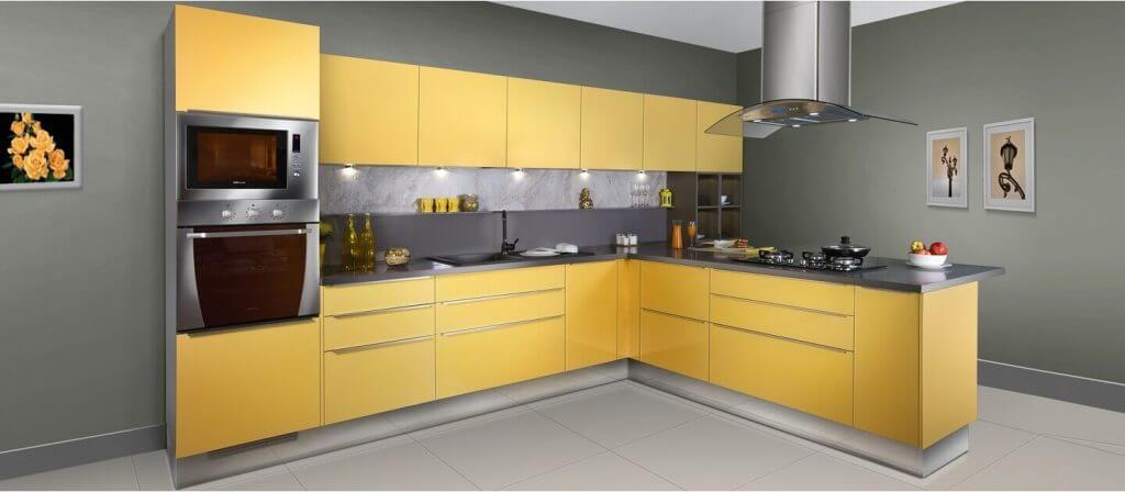 מטבח צהוב - מטבחי דניאל
